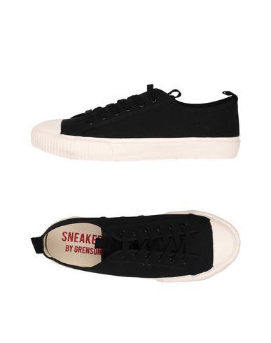 GRENSON BLACK CANVAS WHITE SOLE Sneakers