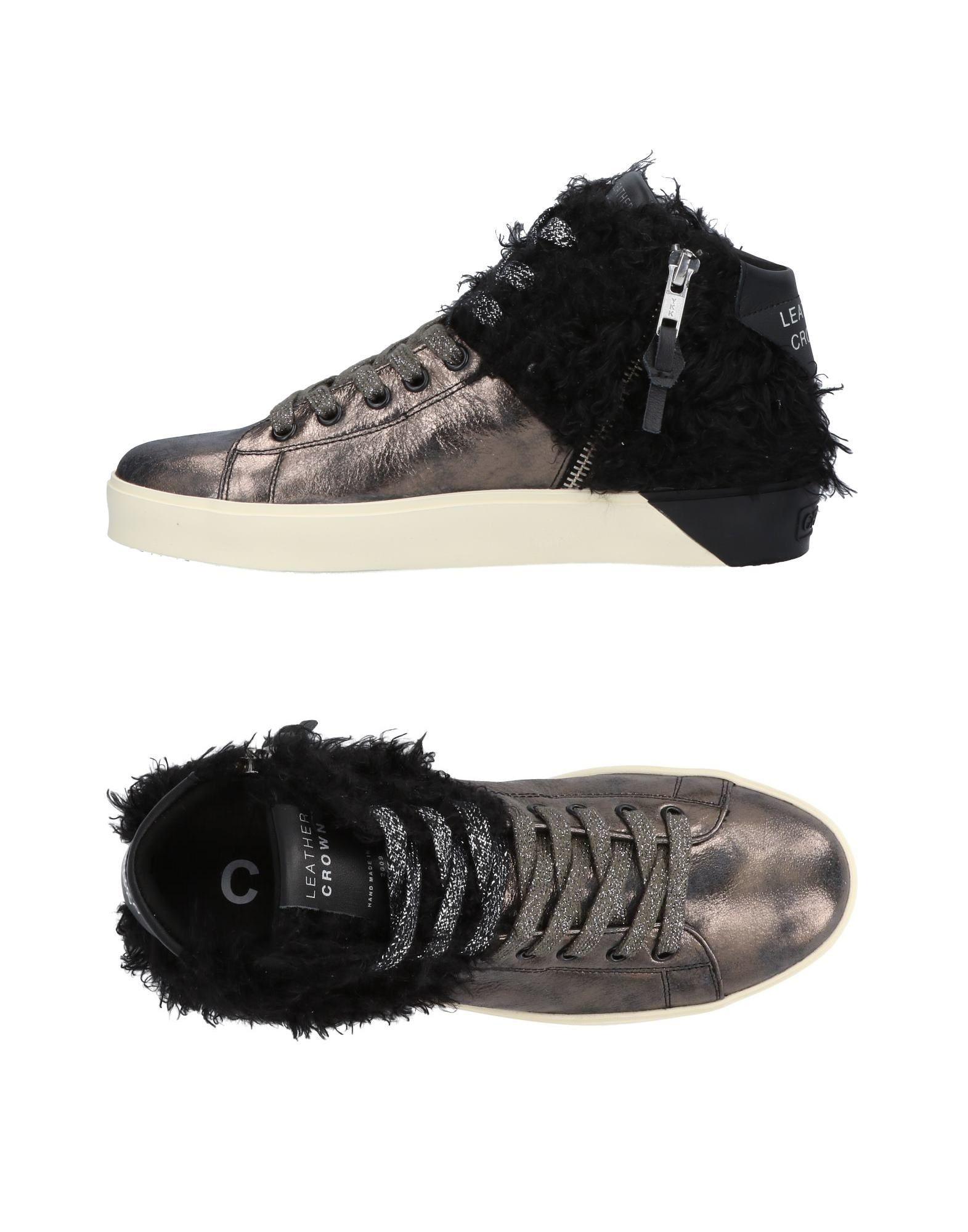 Stilvolle billige Schuhe Leather Crown Sneakers Damen  11453531VW