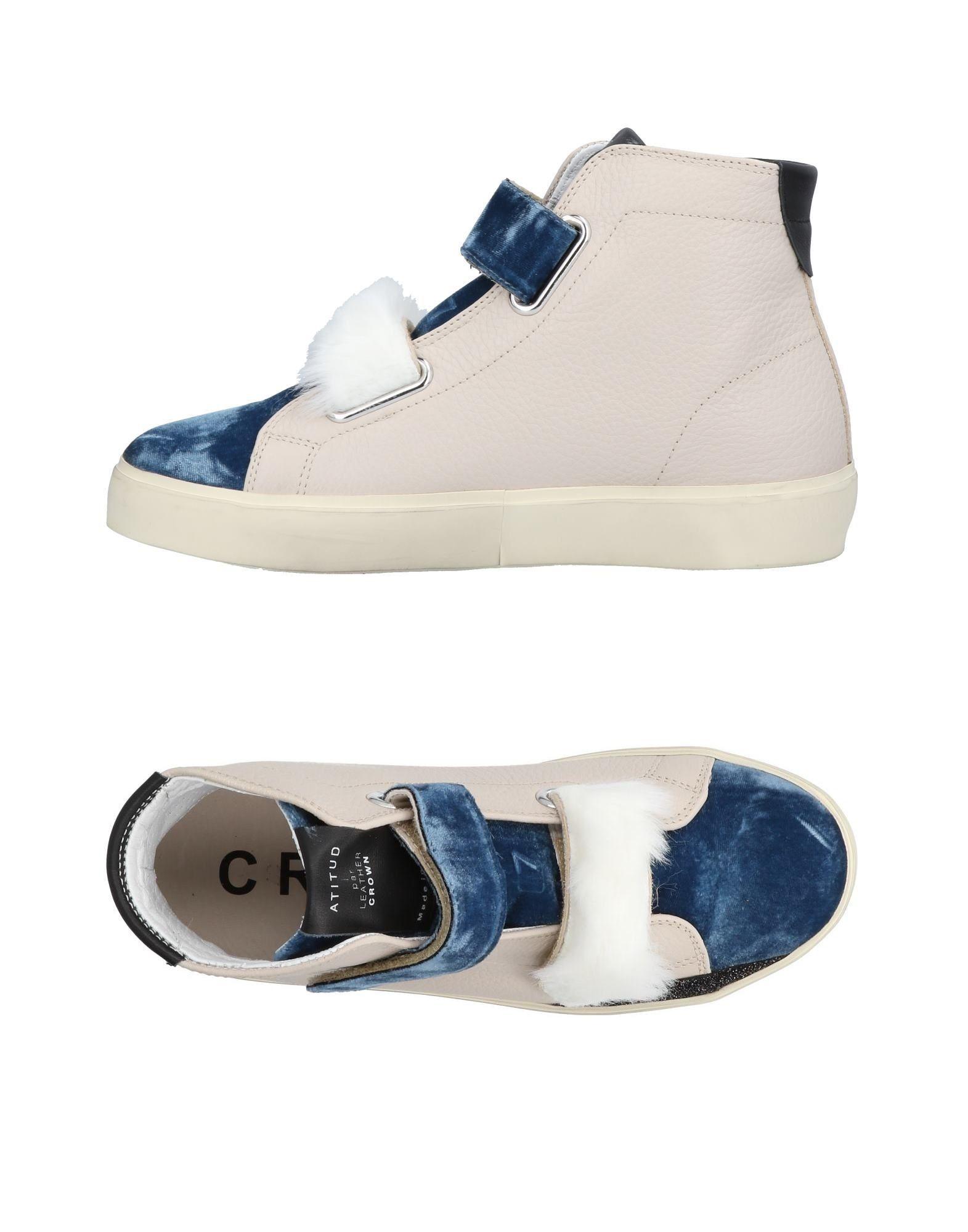 Baskets Leather Crown Femme - Baskets Leather Crown Bleu pétrole Mode pas cher et belle