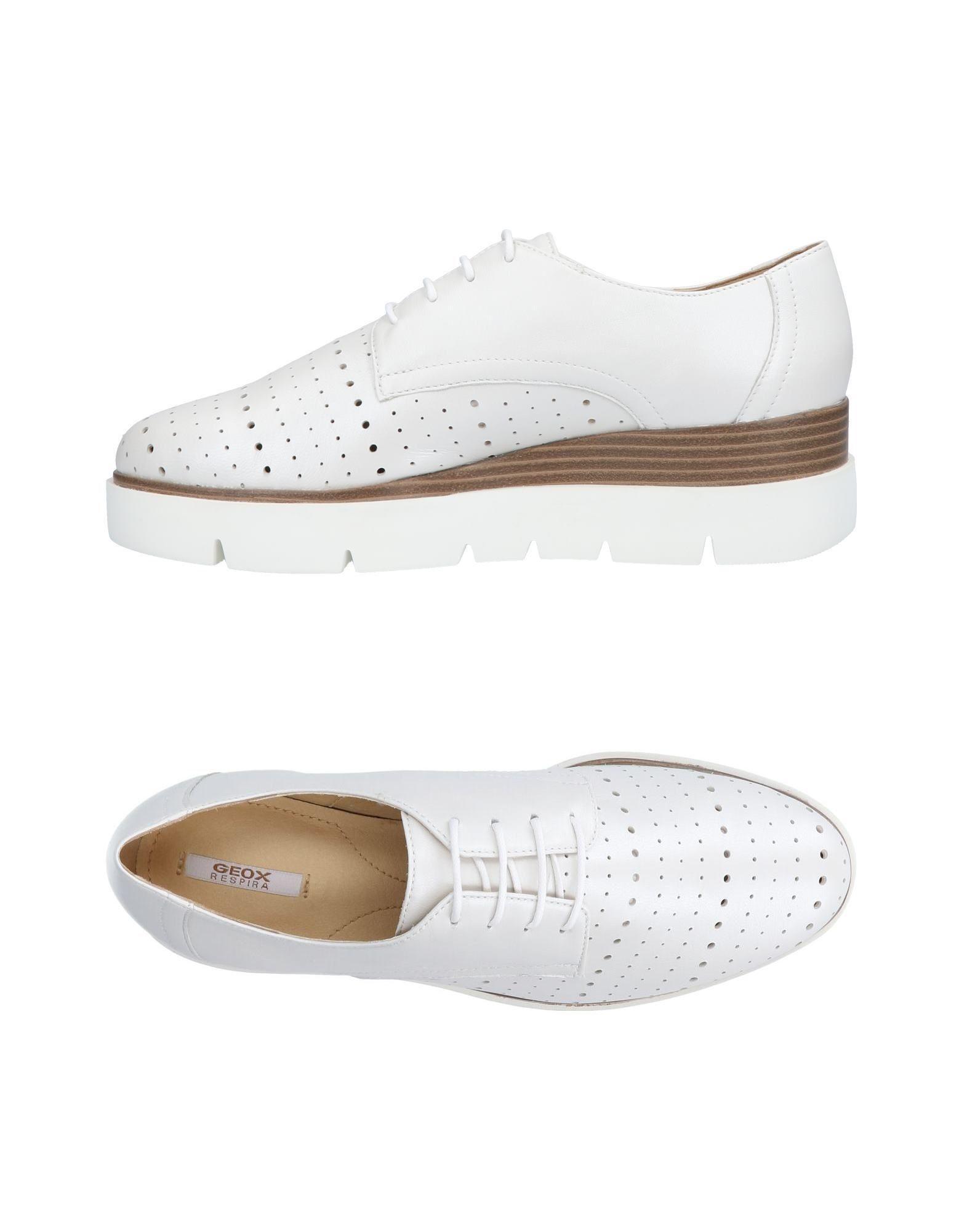 Stilvolle billige Schuhe Geox Schnürschuhe Damen  11453752UK