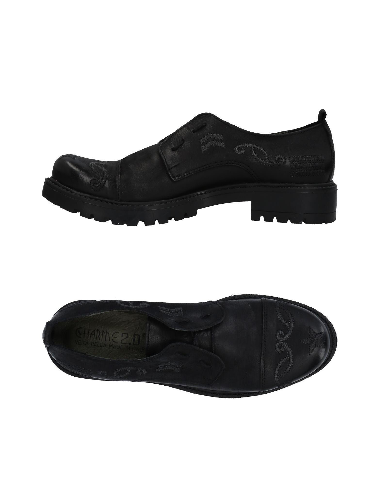 Negro Zapato De De De Cordones Charme Mujer - Zapatos De Cordones Charme Tiempo limitado especial 99b213