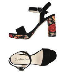 Scarpe Donna Sandali Designer Plateau GLITTER ARGENTO 4250 36