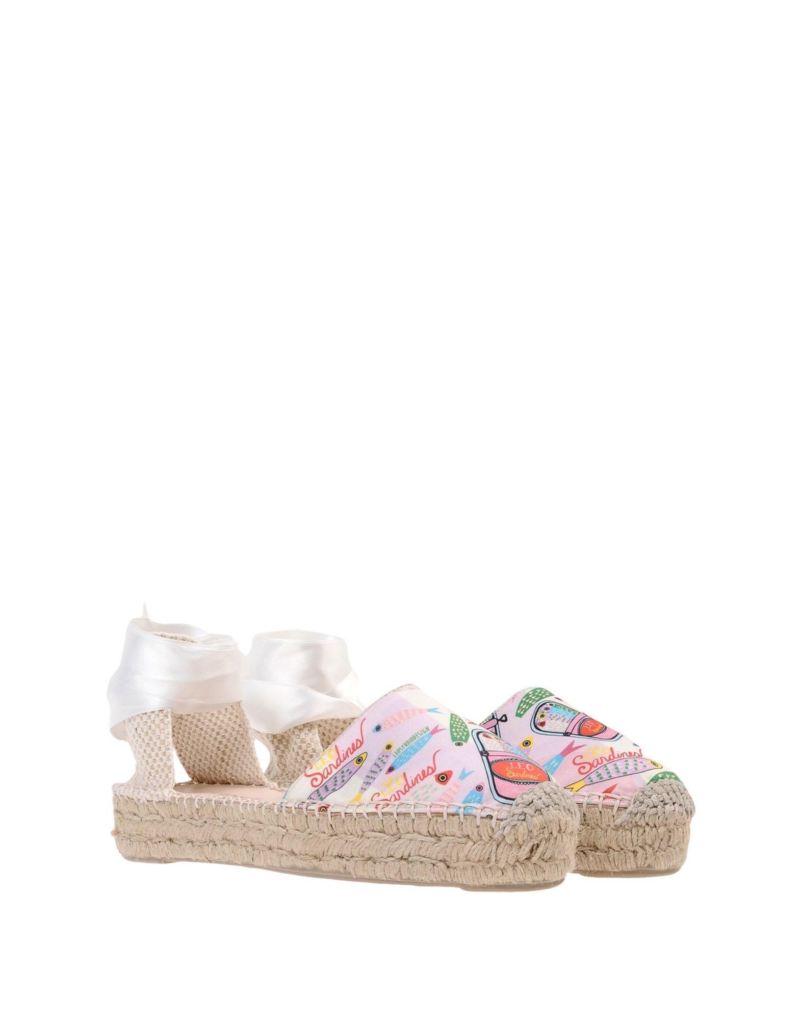 Leo Studio Design Lace Up Satin Espadrilles  11457407BU Gute Qualität beliebte Schuhe