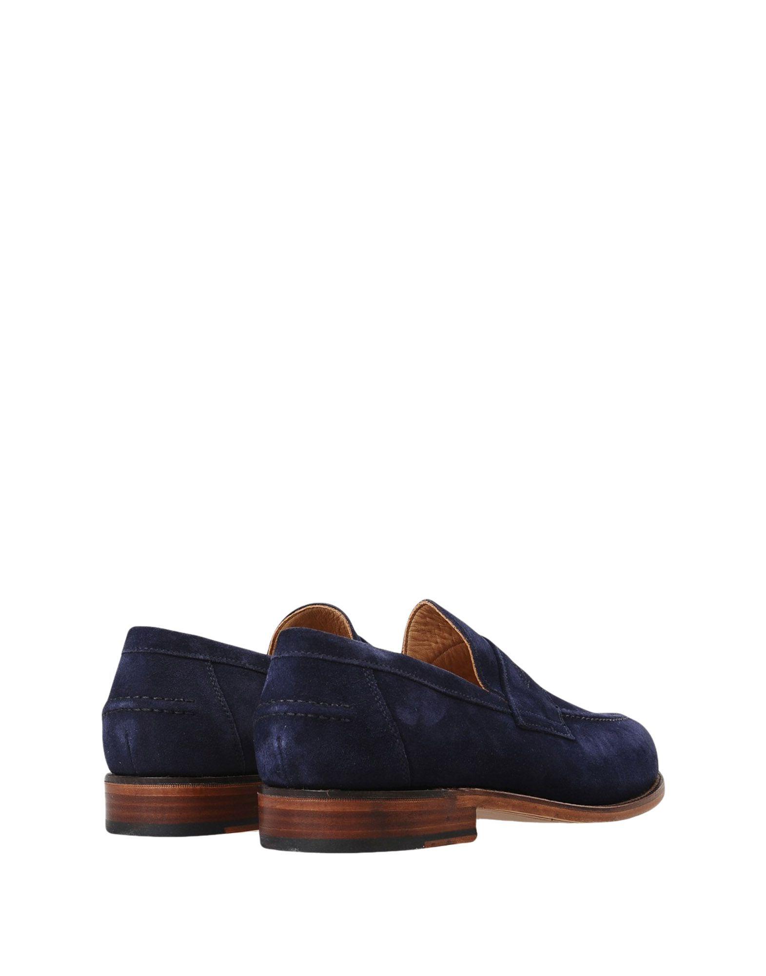 Mocassins Sanders Aldwych - Black Suede Loafer, Leather Sole - Homme - Mocassins Sanders sur