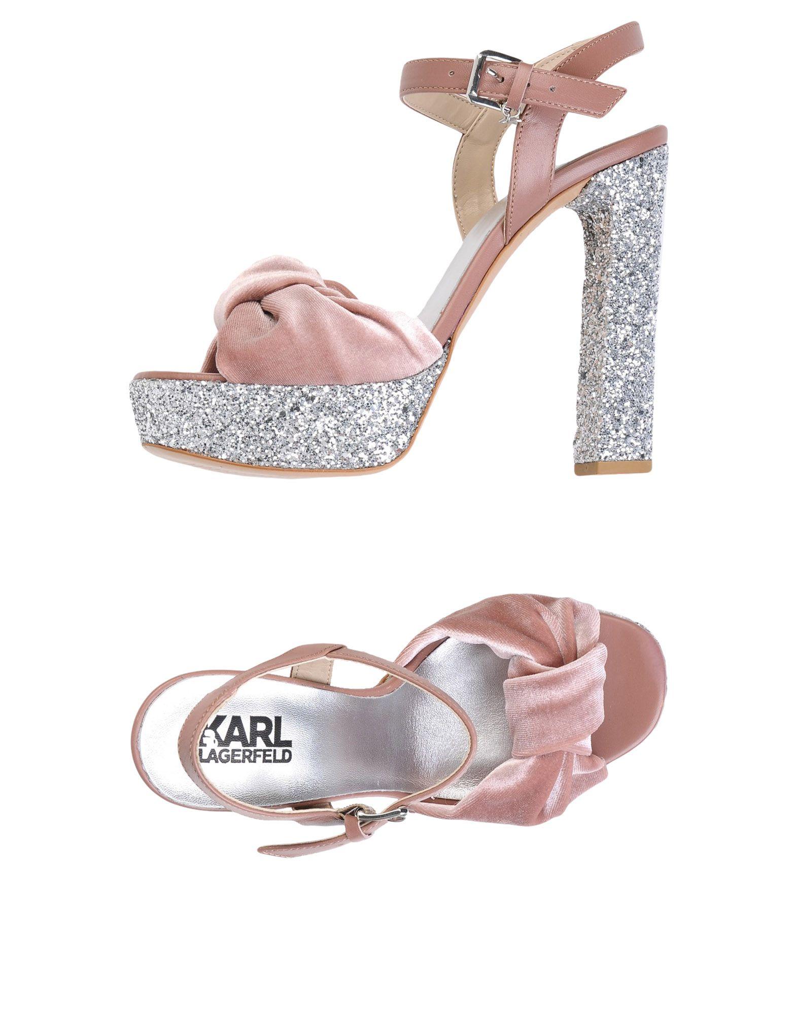 Sandali Karl Lagerfeld Soiree Open Sandal Velvet - Donna - 11458328OQ