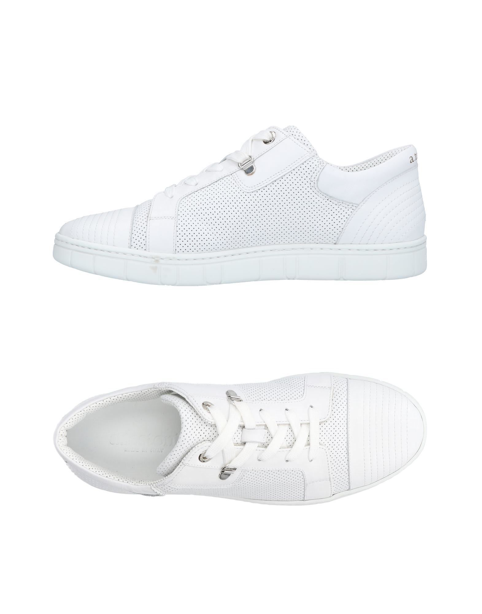 Baskets A.Testoni Homme - Baskets A.Testoni  Blanc Chaussures casual sauvages