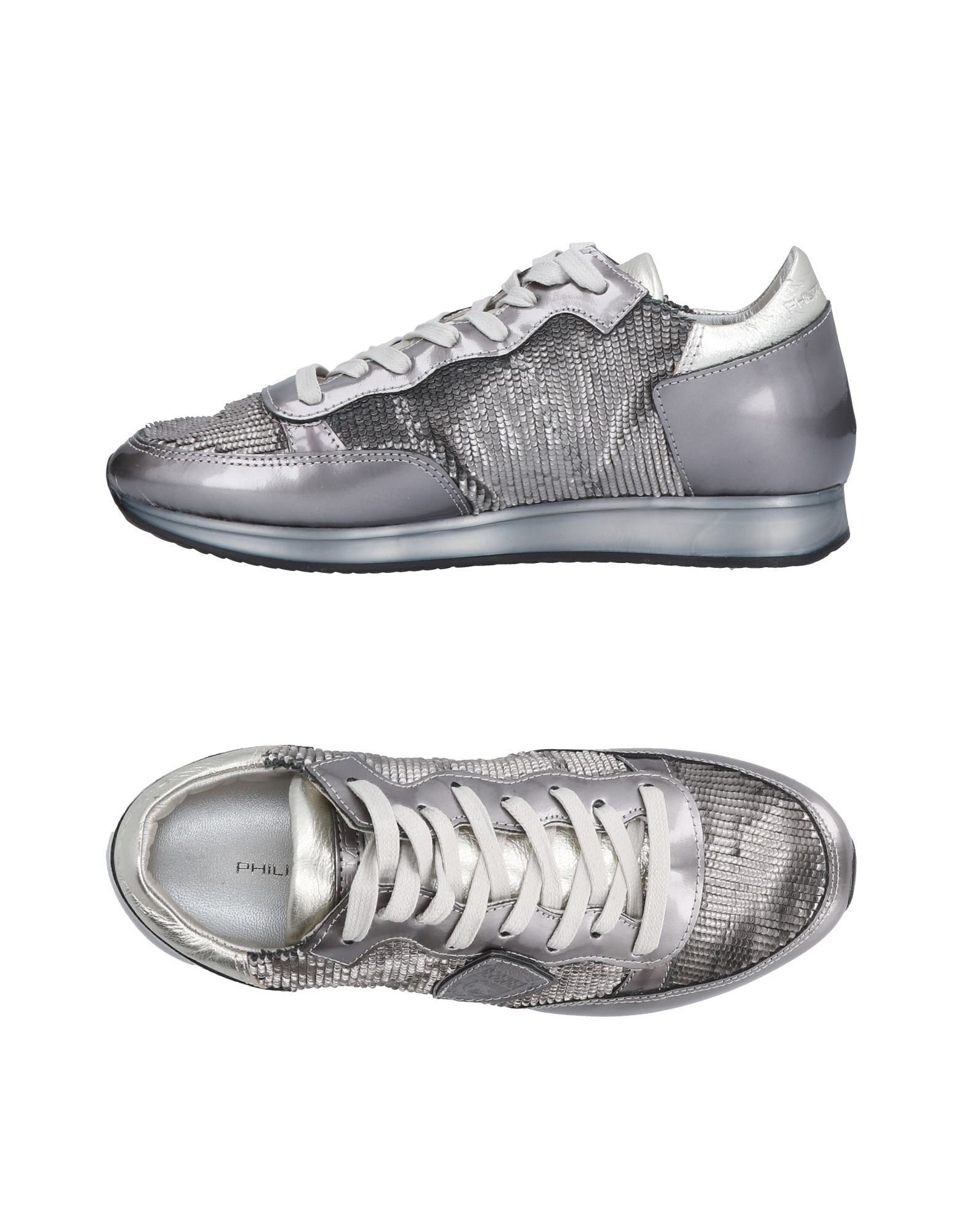 Baskets Philippe Model Femme - Baskets Philippe Model Plomb Chaussures femme pas cher homme et femme