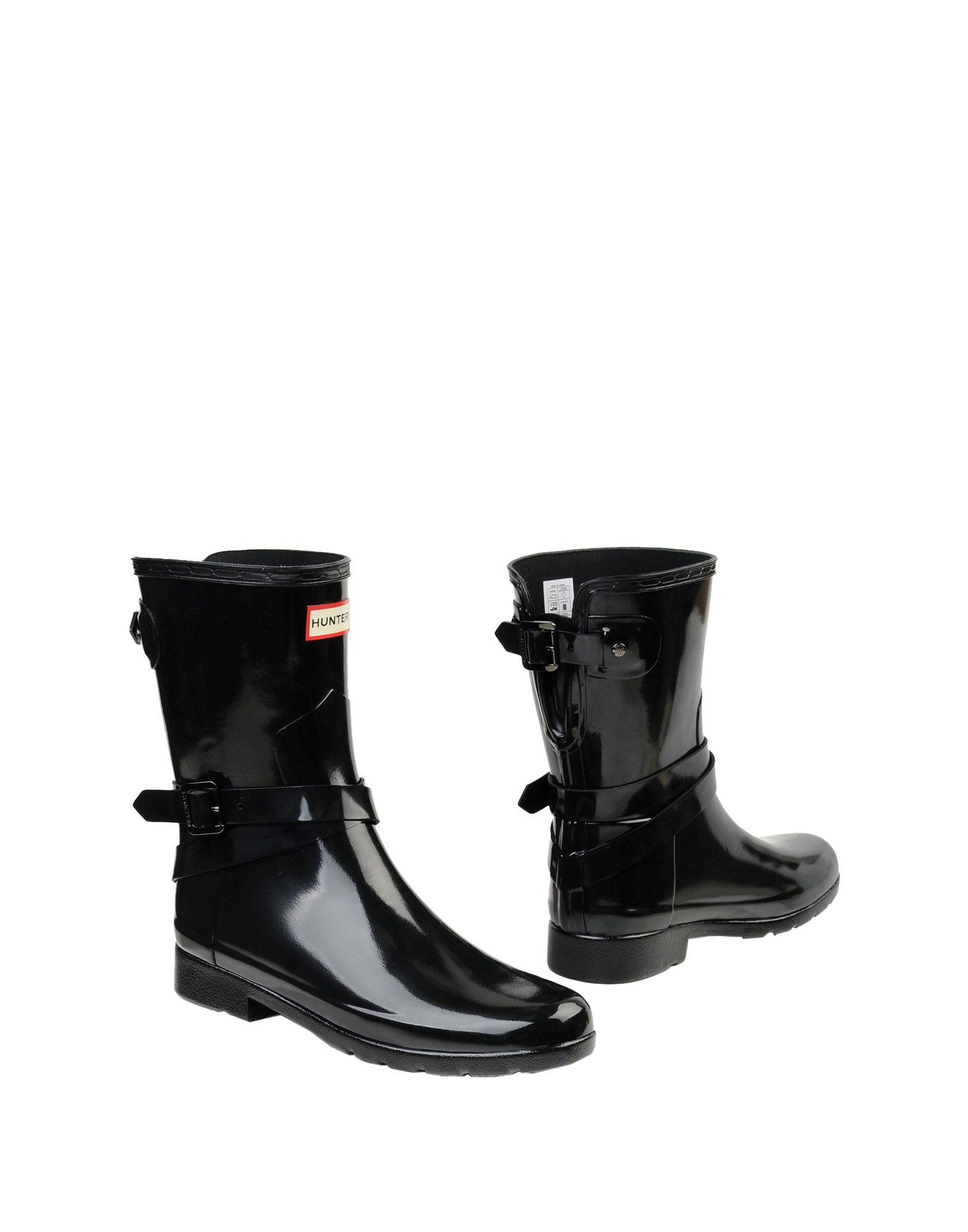 Stivaletti Hunter Refined Back Adjustable Short W/ Ankle Strap Gloss - Donna - Acquista online su