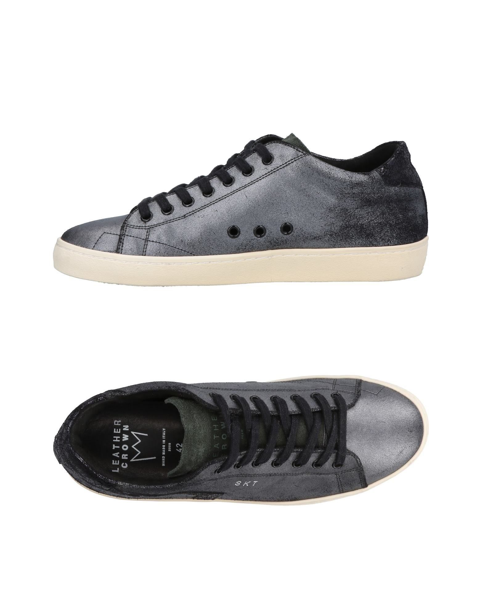 Sneakers Leather Crown Homme - Sneakers Leather Crown  Plomb Dédouanement saisonnier