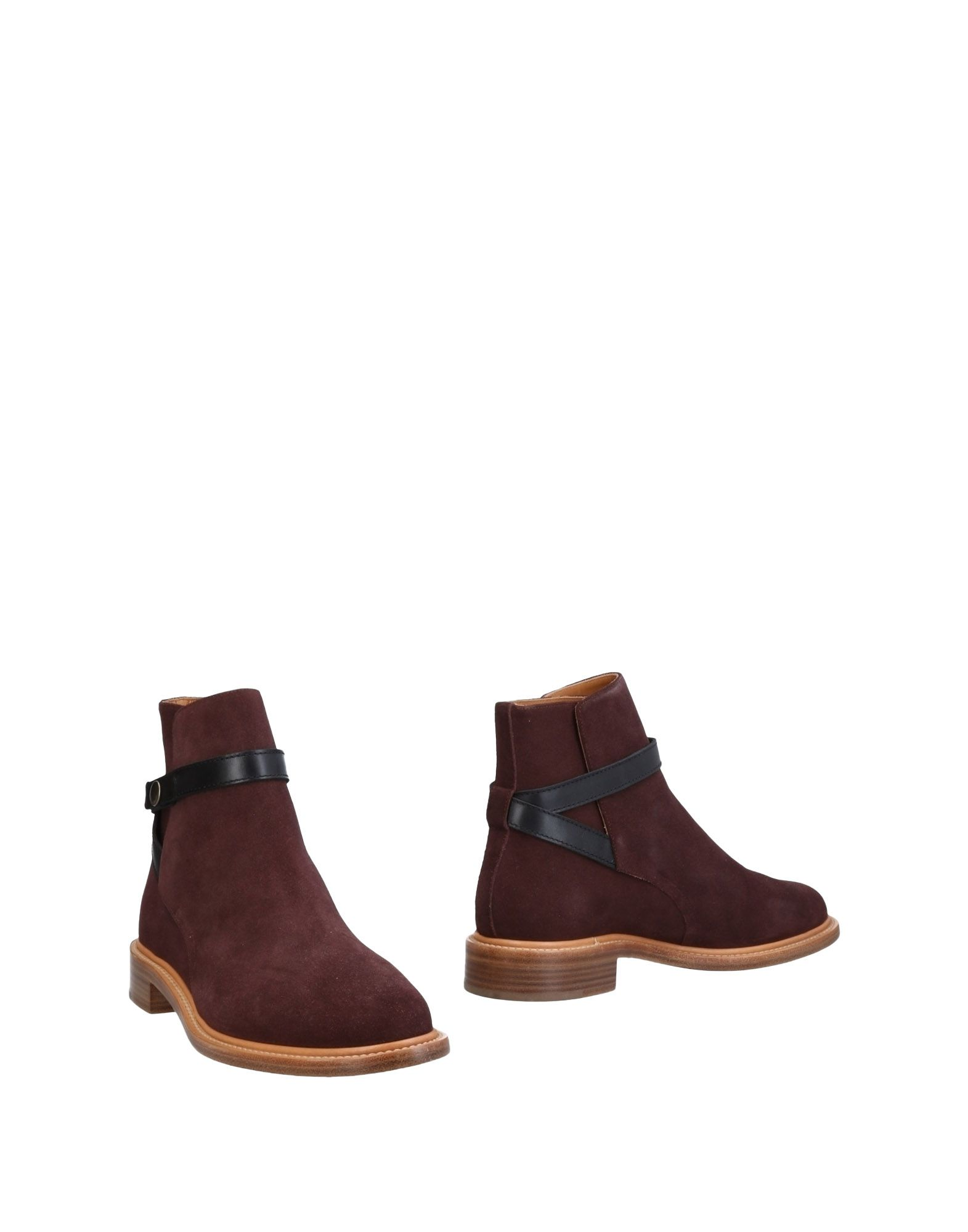 Bottine Chloé Femme - Bottines Chloé Aubergine Super rabais