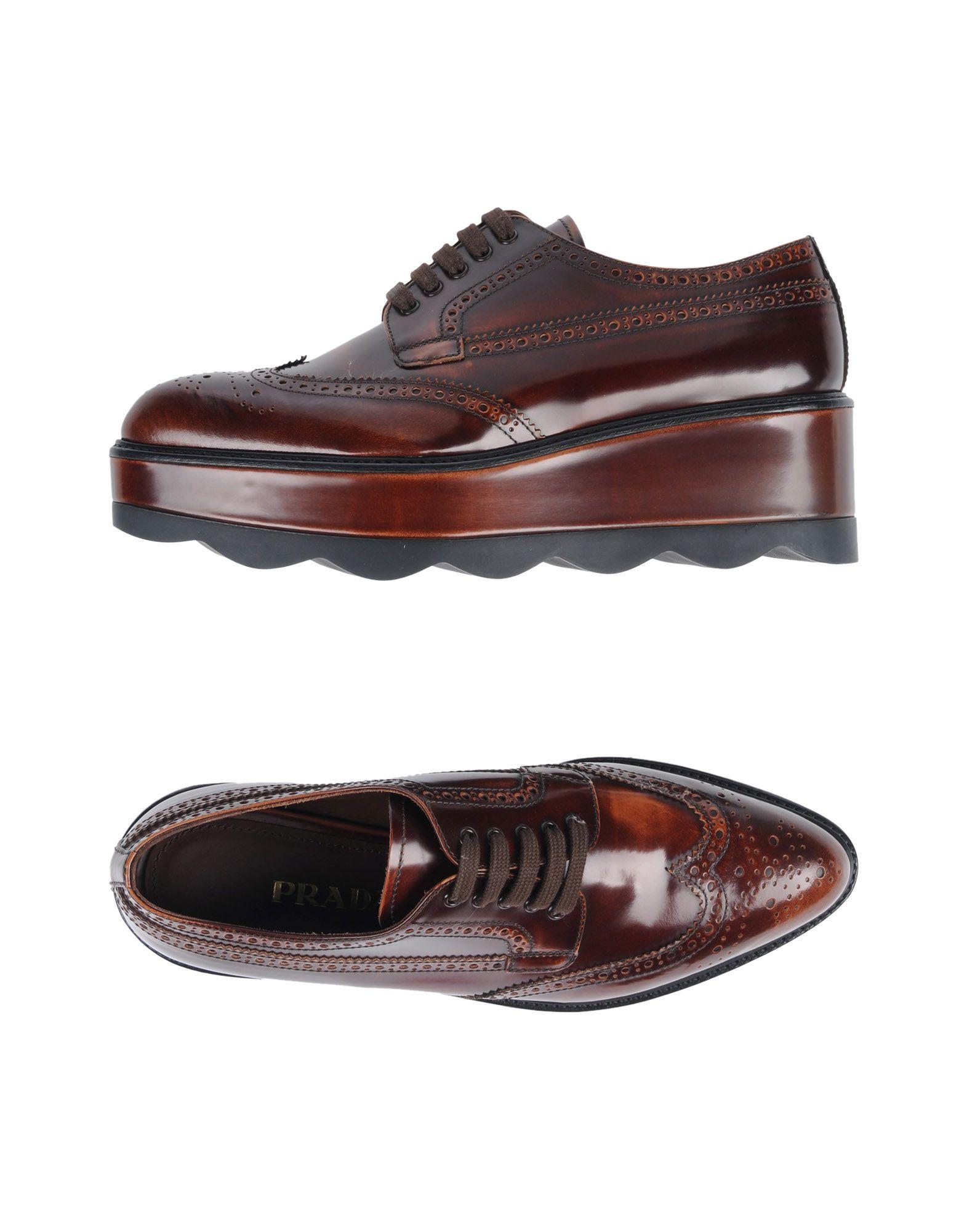 Prada Schnürschuhe Damen  11463421UCGünstige gut aussehende Schuhe