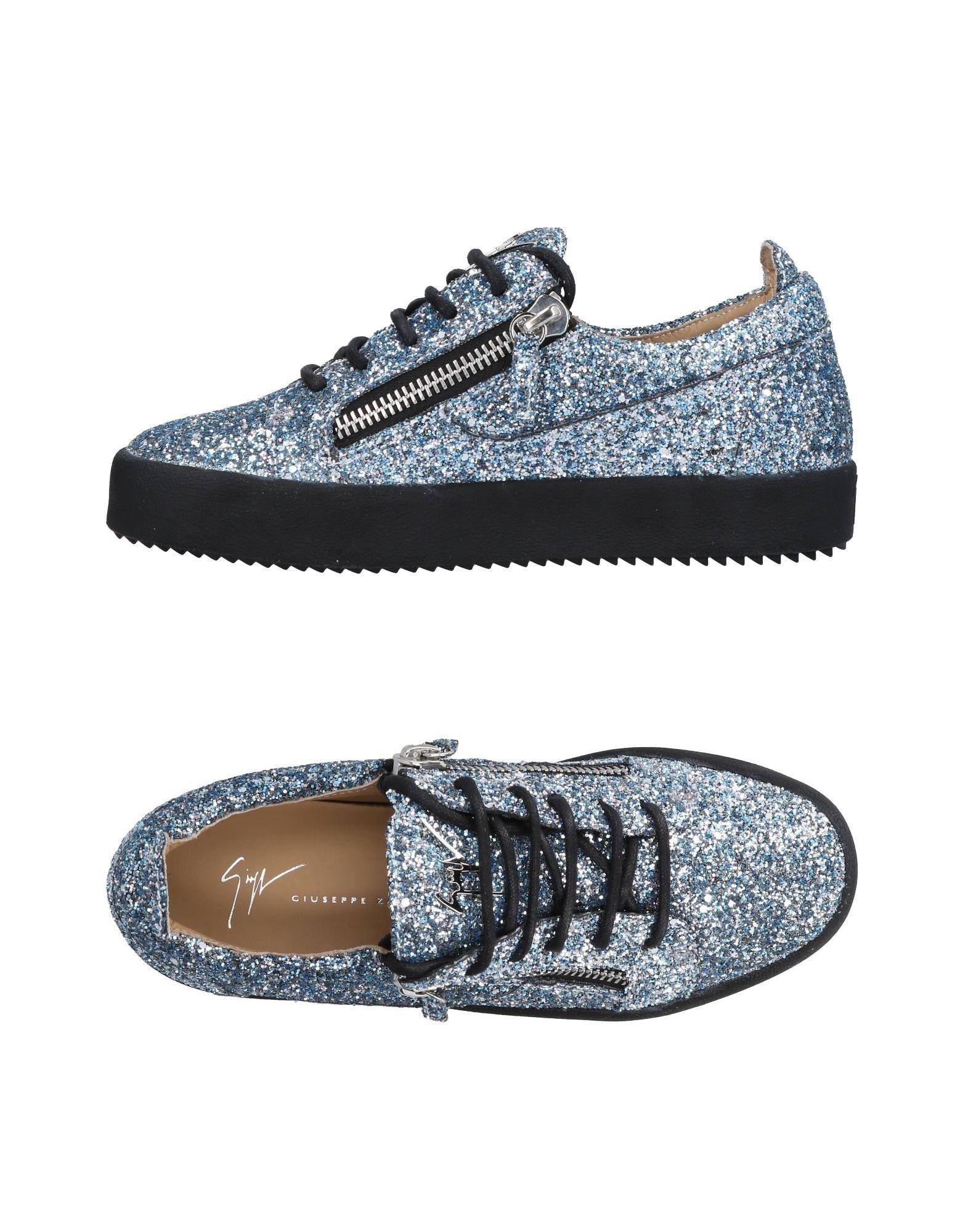 Baskets Giuseppe Zanotti Femme - Baskets Giuseppe Zanotti Bleu d'azur Dernières chaussures discount pour hommes et femmes
