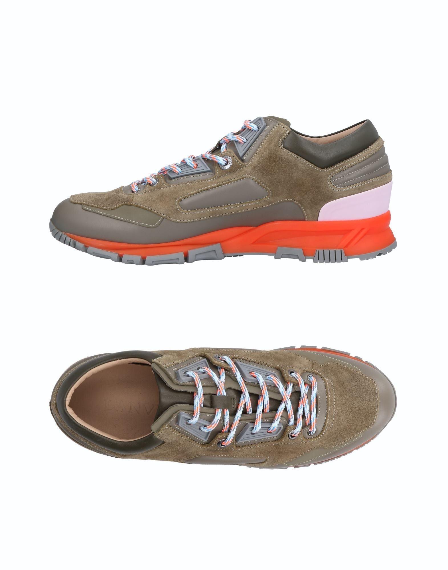 Sneakers Lanvin Homme - Sneakers Lanvin  Gris Remise de marque