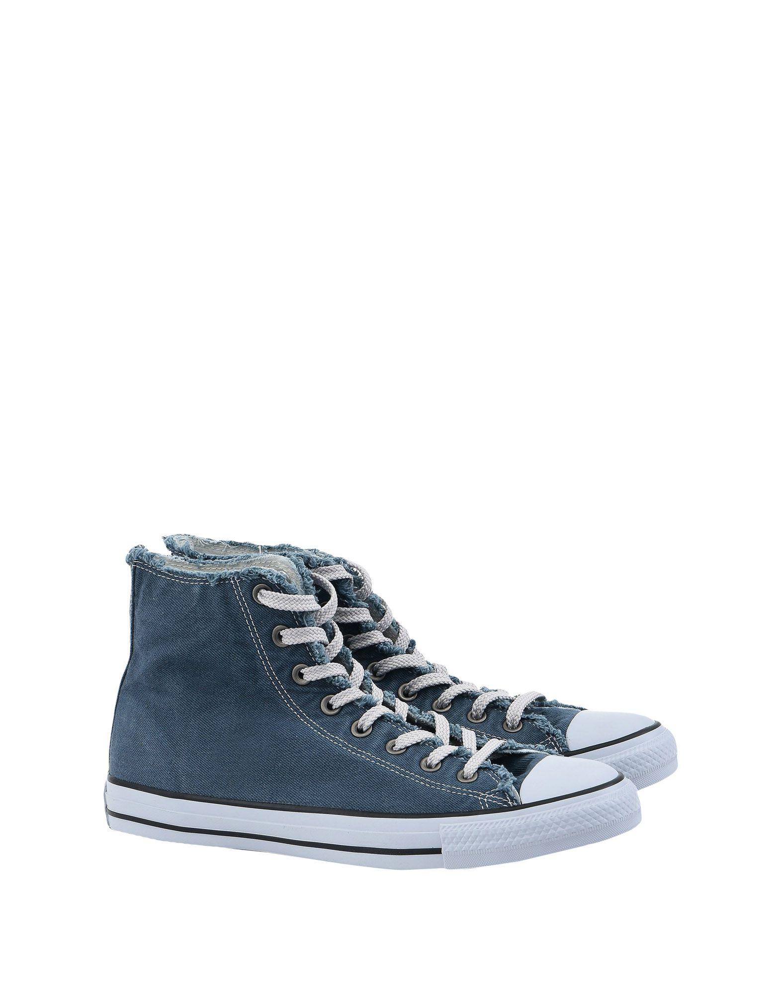Sneakers Converse All Star Ctas Hi Denim Frayed Washed - Femme - Sneakers Converse All Star sur