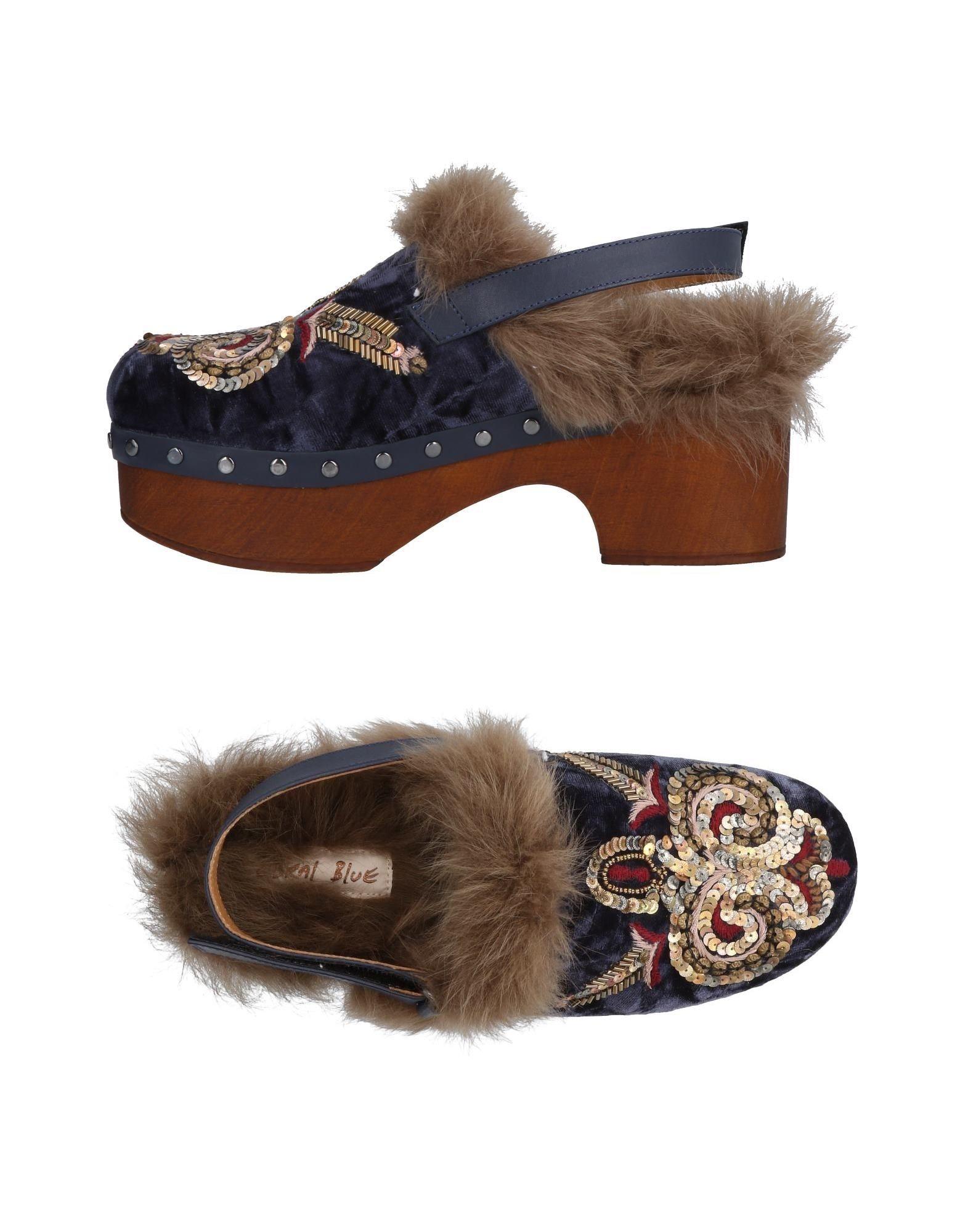 Coral Blue Gute Pantoletten Damen  11471061XJ Gute Blue Qualität beliebte Schuhe 1b3065