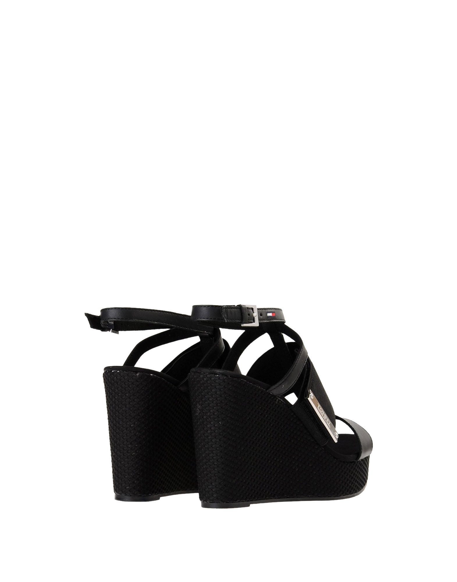 Sandales Tommy Jeans Material Mix Wedge Sandal - Femme - Sandales Tommy Jeans sur