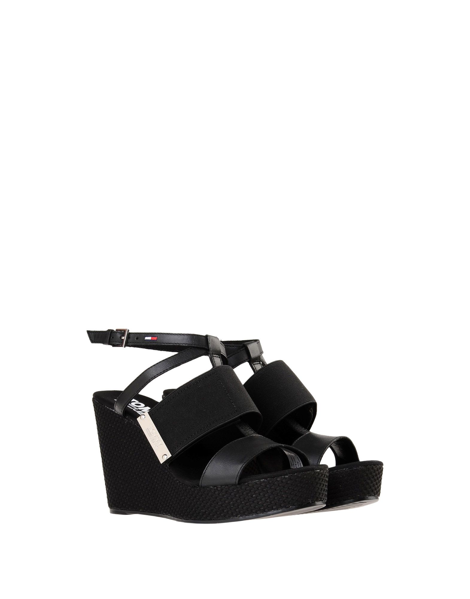 Tommy Jeans Sandal Material Mix Wedge Sandal Jeans  11471183XH  a70e35