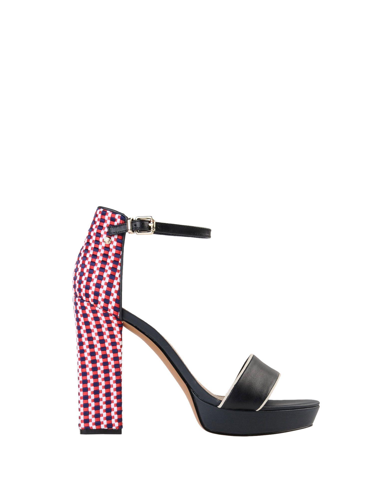 Stilvolle Stilvolle Stilvolle billige Schuhe Tommy Hilfiger Corporate Interwoven High Heel  11471218BX 3bb95b