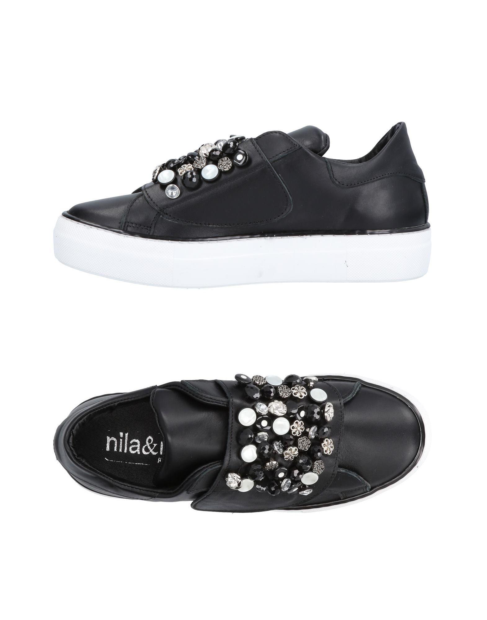 Baskets Nila & Nila Femme - Baskets Nila & Nila Noir Dernières chaussures discount pour hommes et femmes