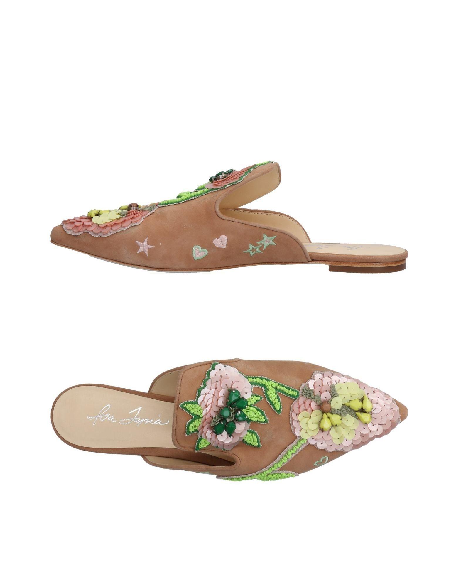 Rabatt Schuhe Isa Tapia Pantoletten Damen  11474769PK