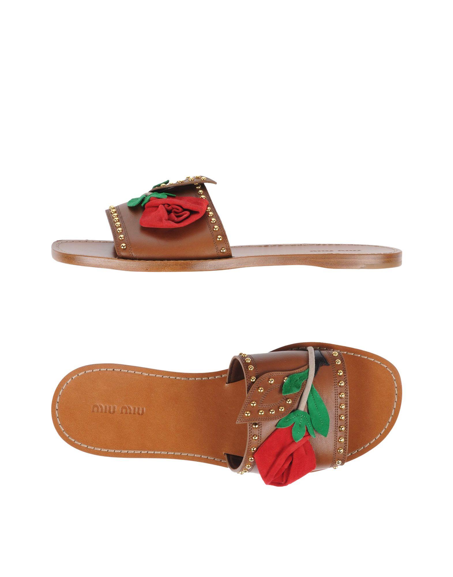 Miu Miu Sandals - Women Miu Miu Sandals - online on  Australia - Sandals 11475572PQ 853ed9