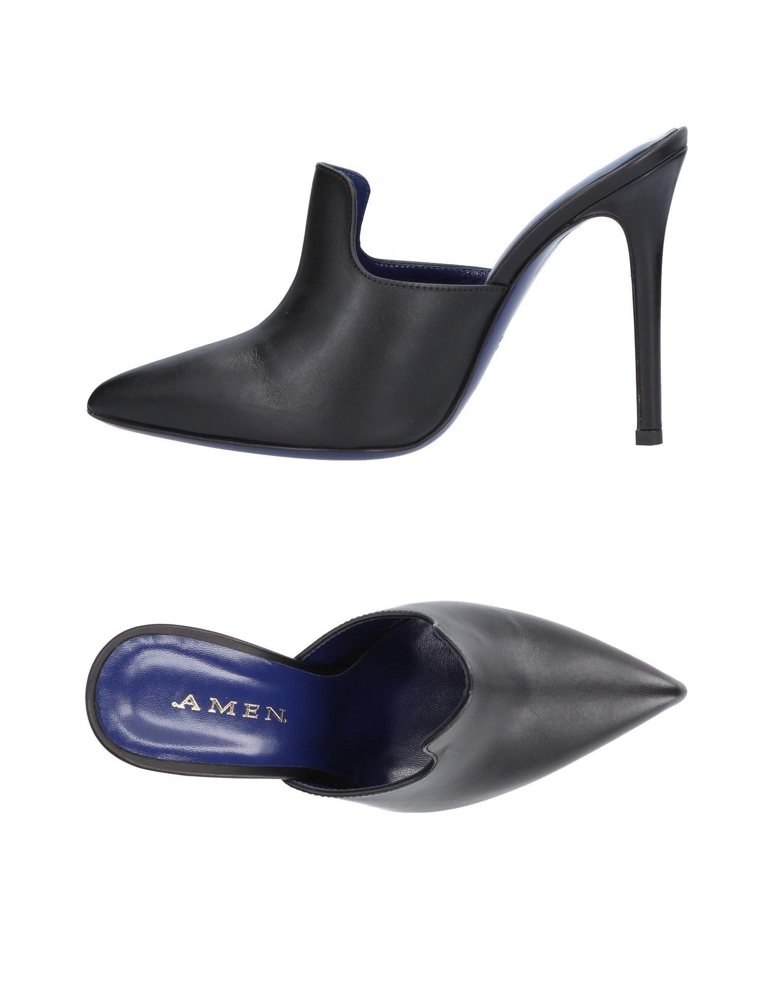 .Amen. Pantoletten Damen  11476115NBGut aussehende strapazierfähige Schuhe