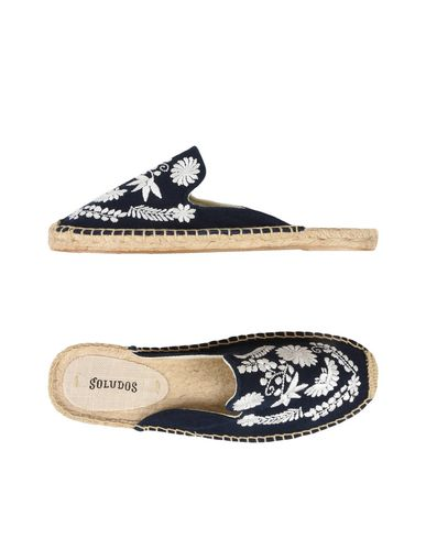Zuecos Soludos Ibiza Embroidered Mule - Mujer - Zuecos Soludos oscuro - 11477852DV Azul oscuro Soludos d91473