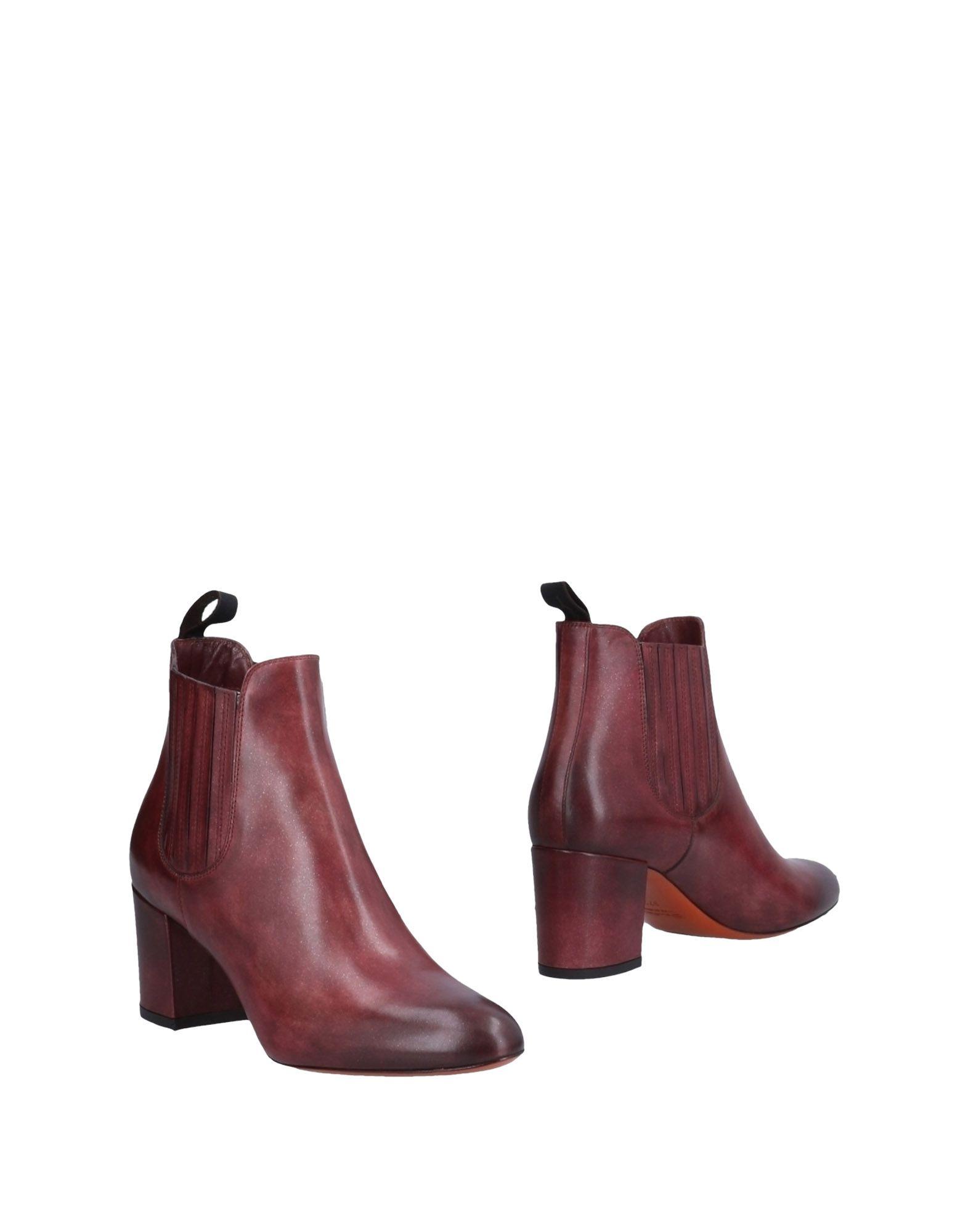 Bottine Santoni Femme - Bottines Santoni Pourpre Chaussures casual sauvages