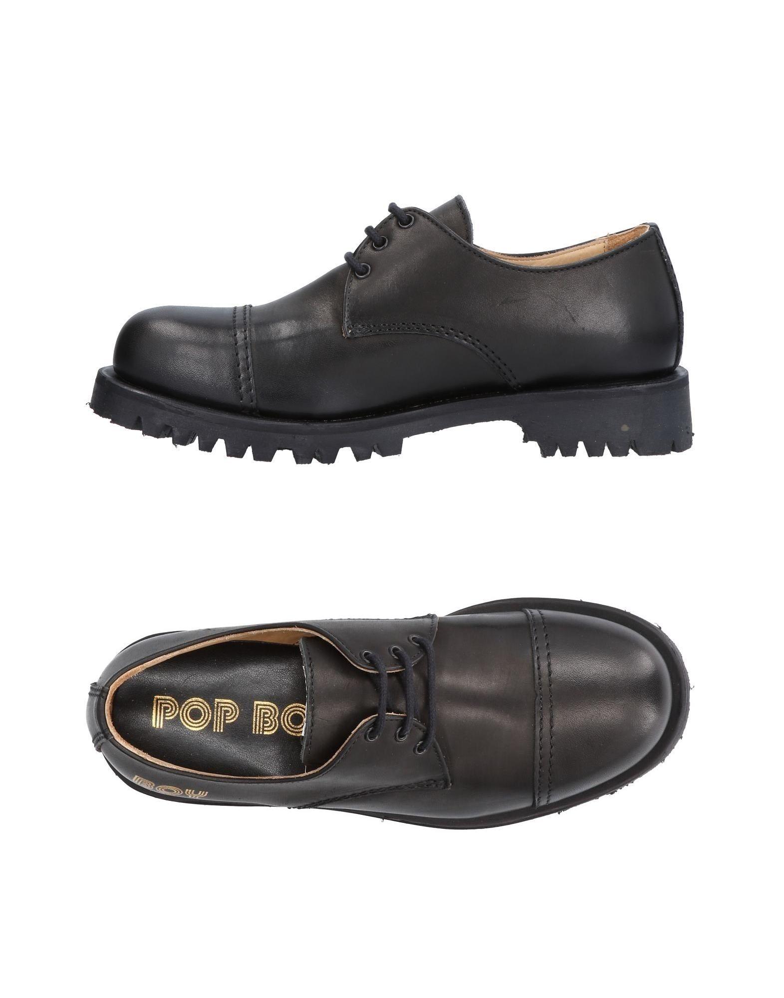 Tiempo limitado especial especial limitado Zapato De Cordones Pop Boy Mujer - Zapatos De Cordones Pop Boy  Negro 8aa9f6