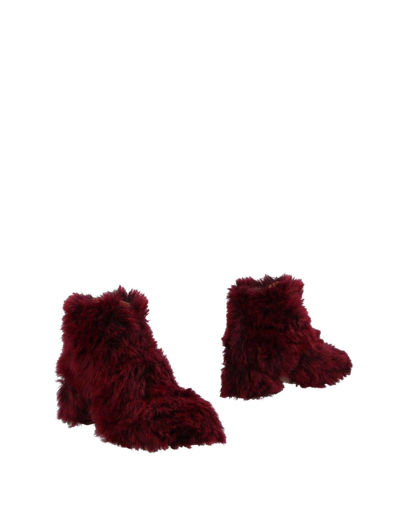 Bottine L'f Shoes Femme - Bottines L'f Shoes Aubergine Chaussures casual sauvages