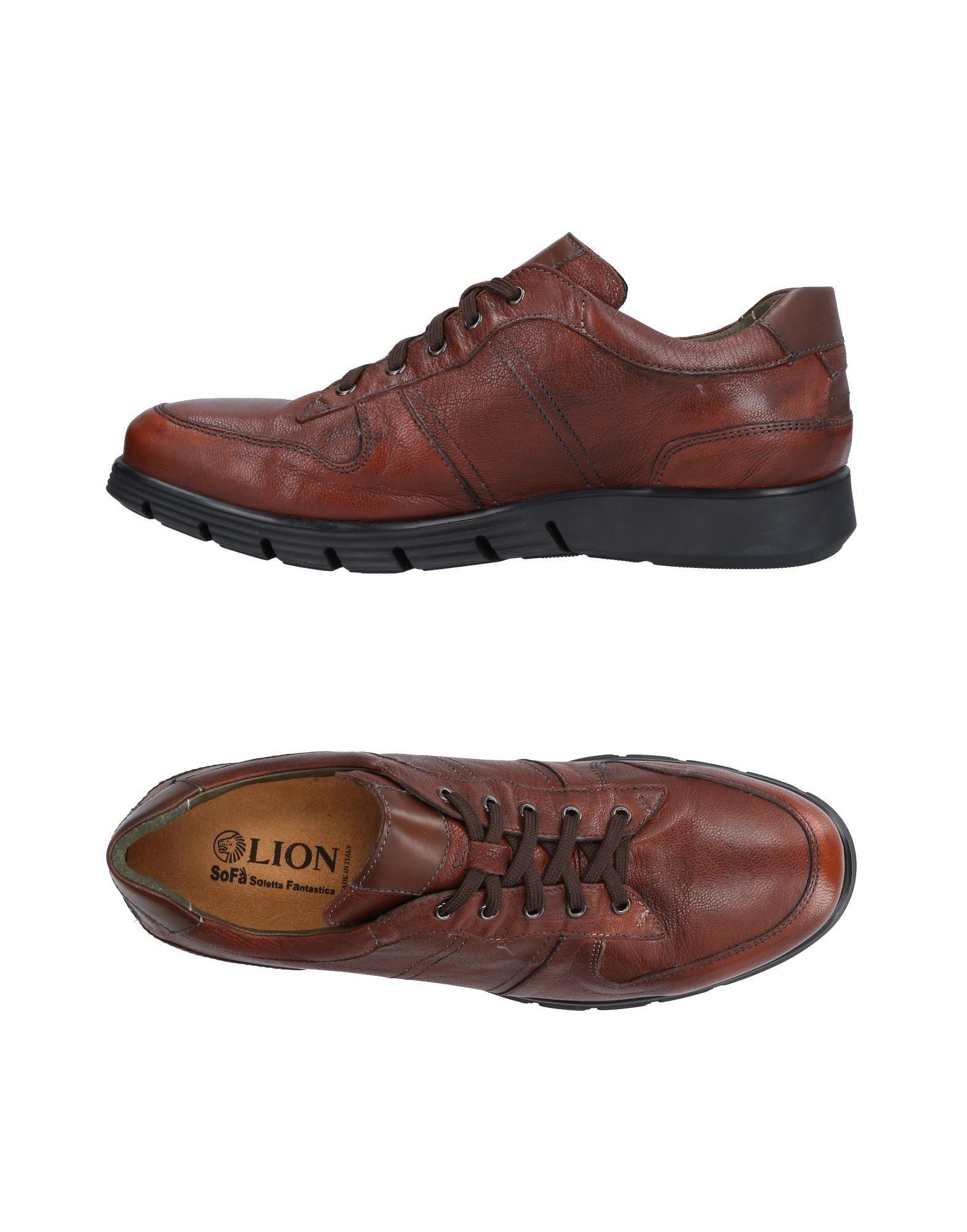 Sneakers Lion Homme - Sneakers Lion  Chocolat Dernières chaussures discount pour hommes et femmes