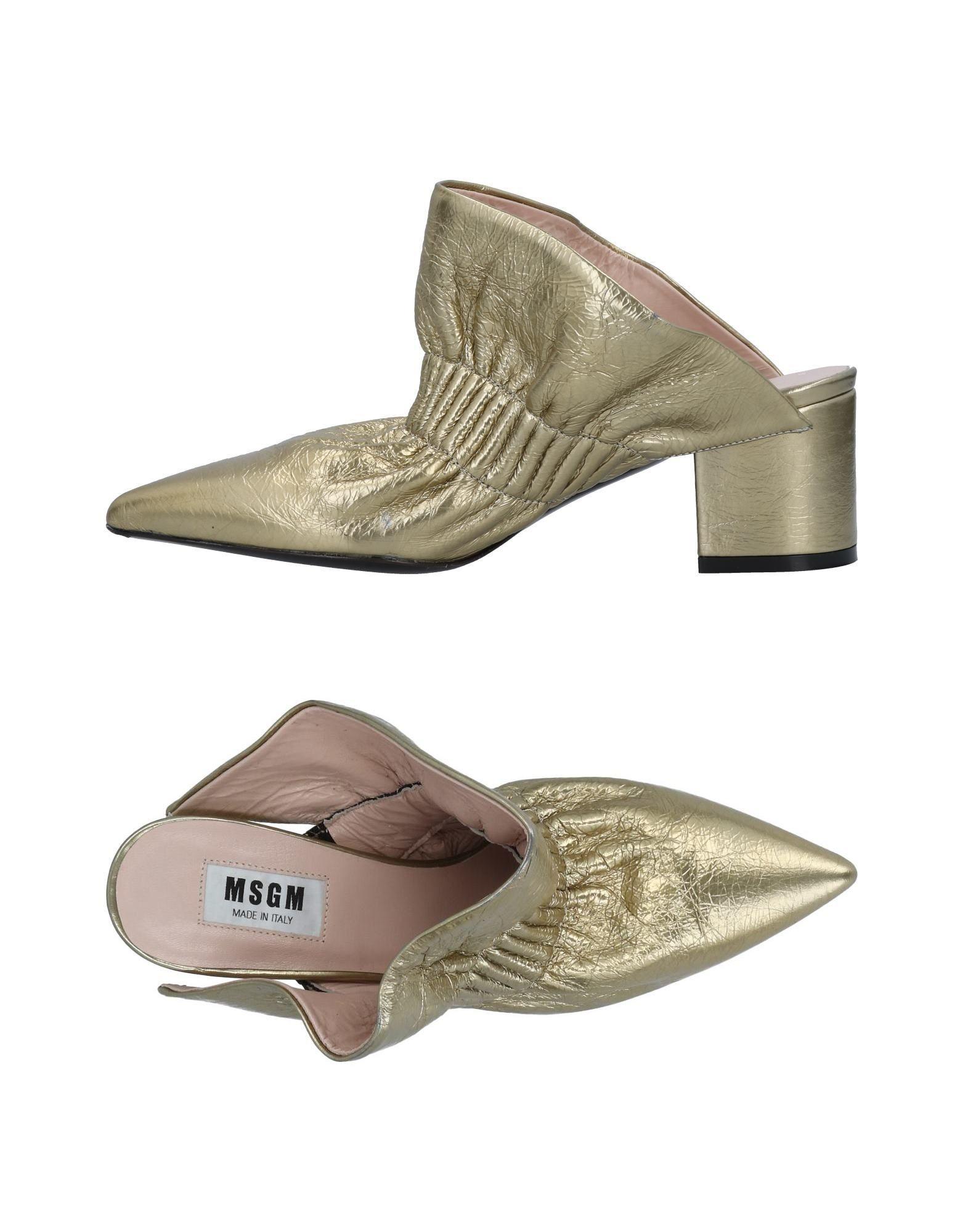 Haltbare Mode billige Schuhe Msgm Pantoletten Damen  11493278TK Heiße Schuhe