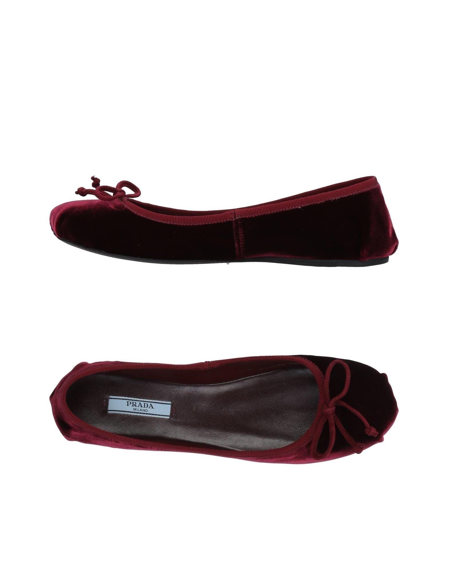 Haltbare Mode billige Schuhe Prada Ballerinas Damen  11494507TR Heiße Schuhe