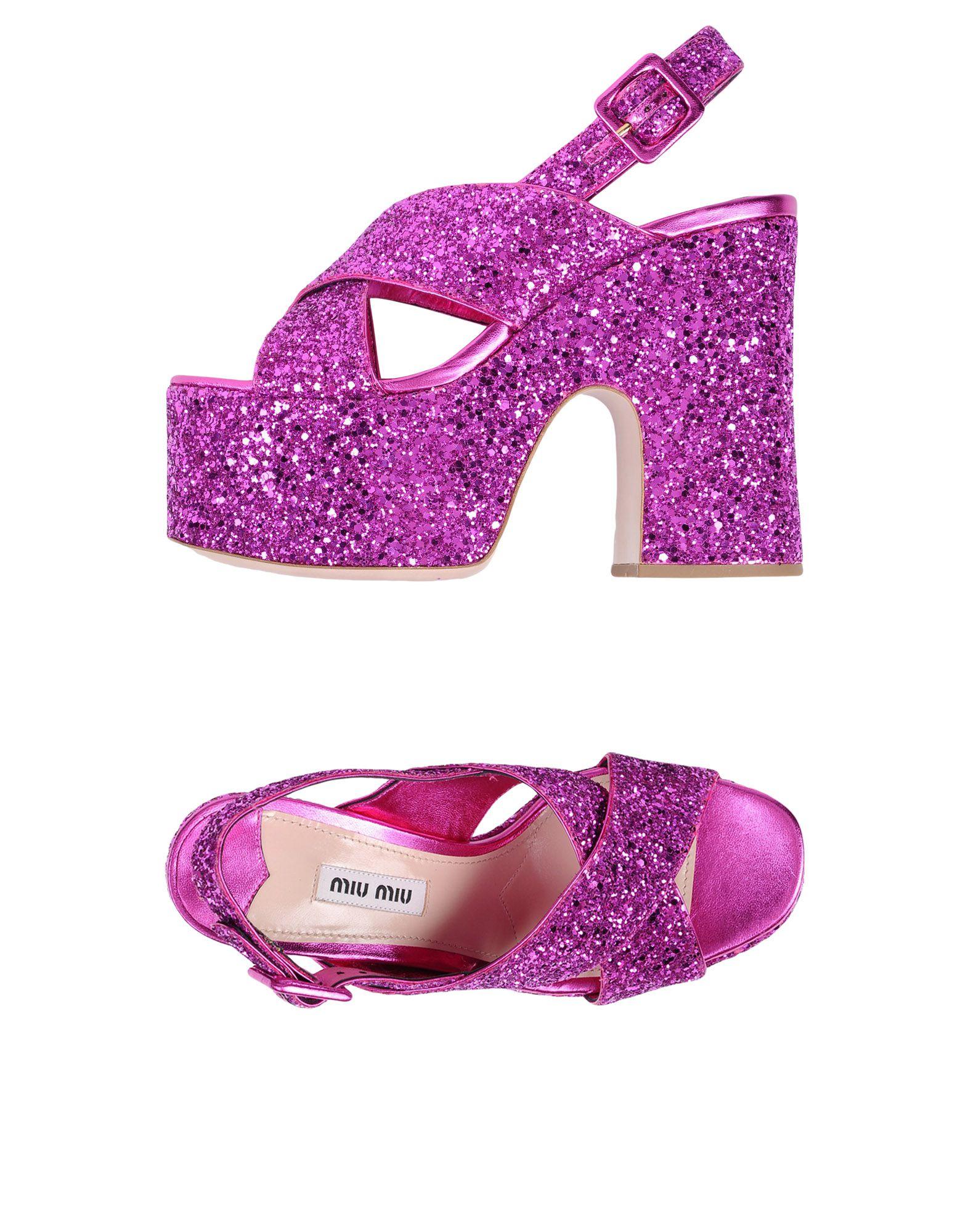 Rabatt Schuhe Miu Miu Sandalen Damen  11494969MD