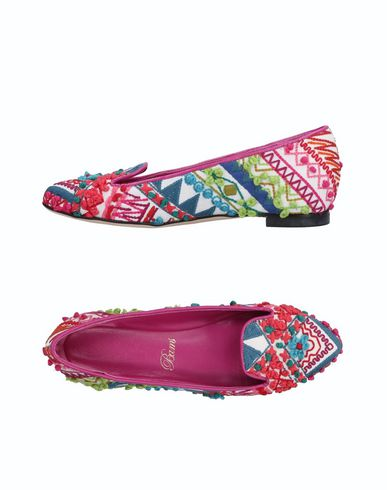 BAMS Loafers in Fuchsia