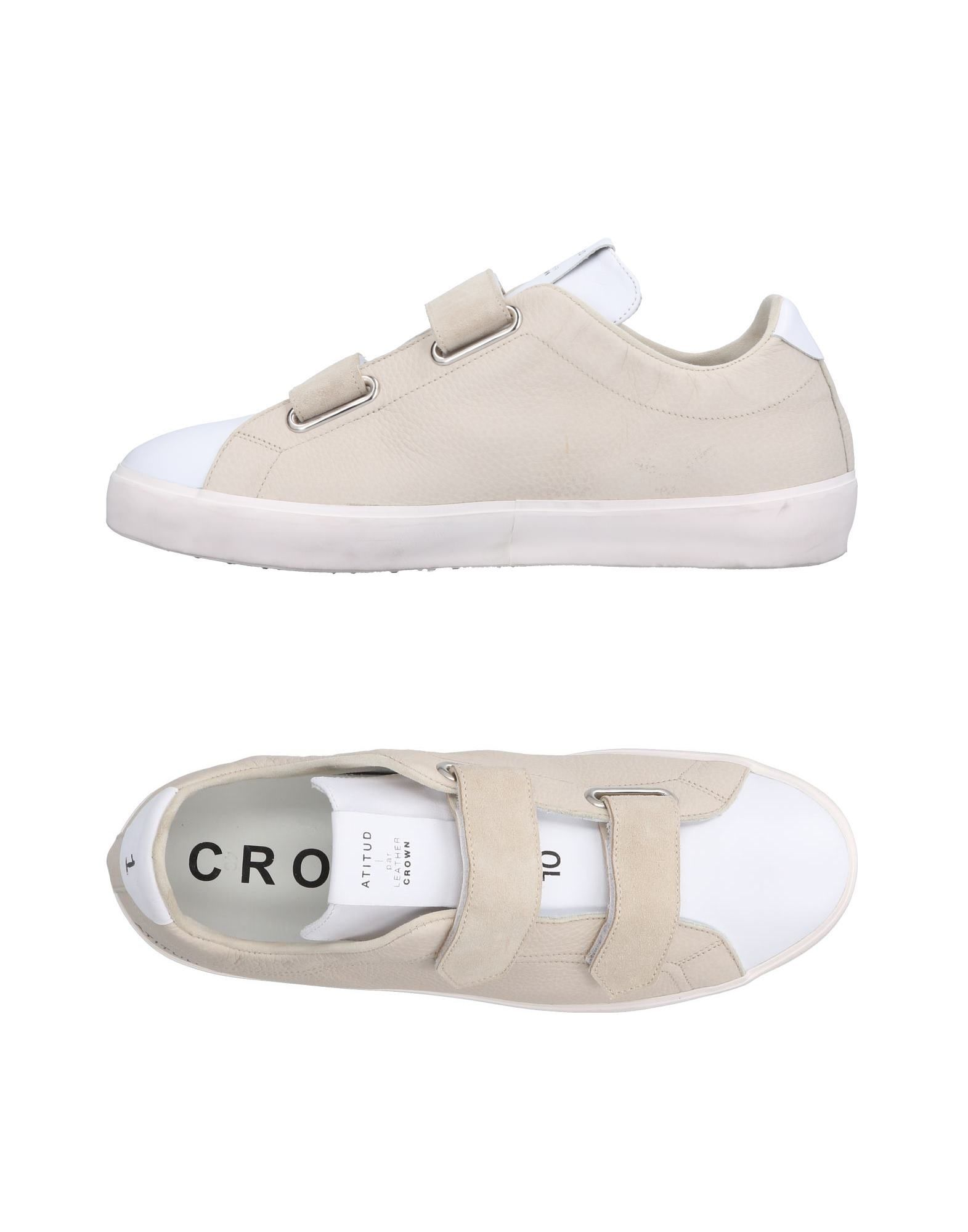 Sneakers Leather Crown Uomo - 11501304IB