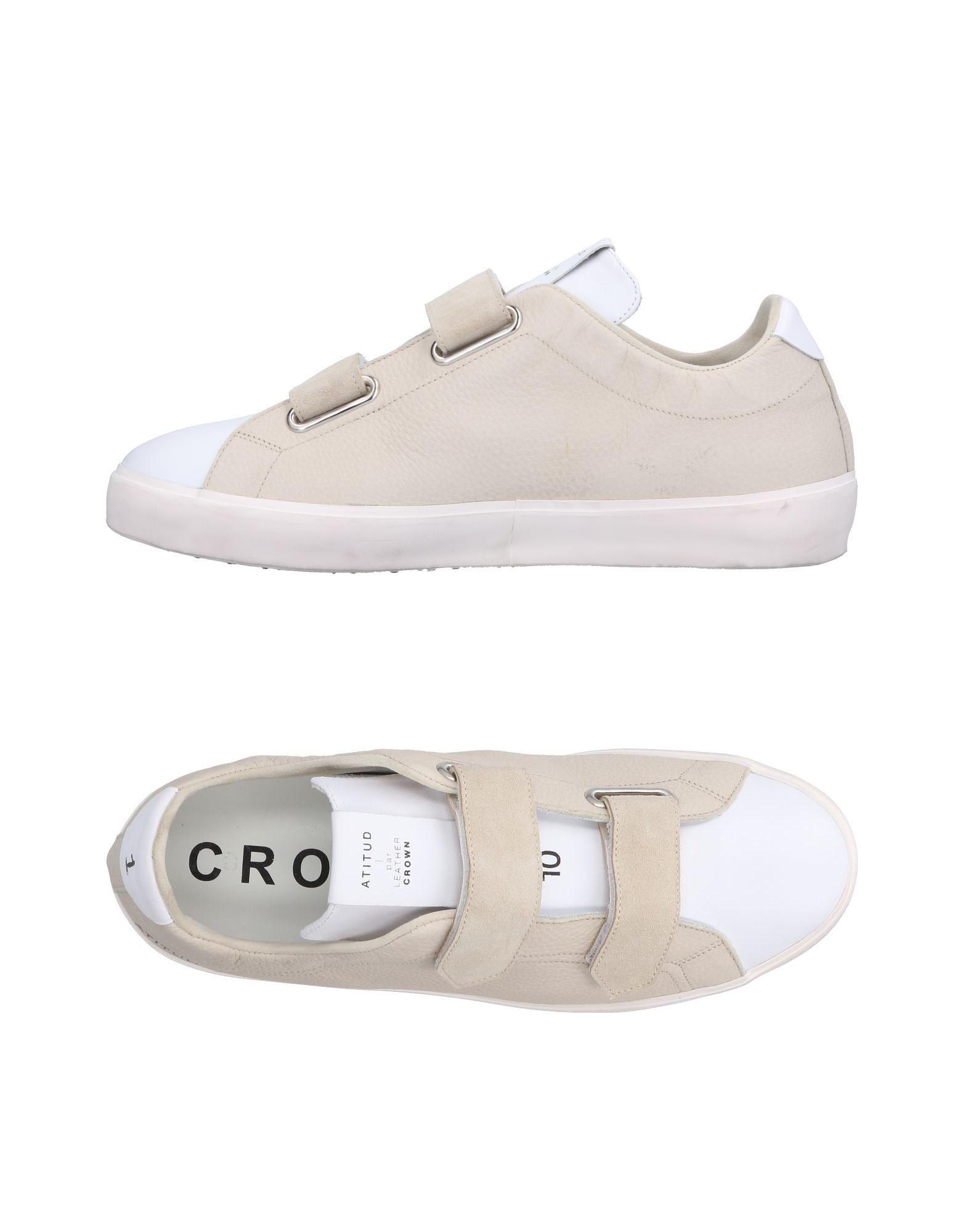 Rabatt echte Schuhe Leather Crown Sneakers Herren  11501304IB