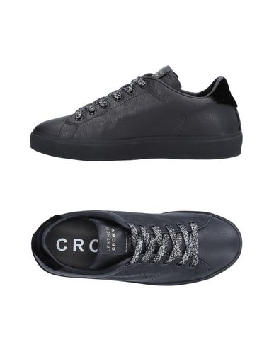 Crown Noir Noir Noir Leather Leather Sneakers Sneakers Sneakers Crown Crown Leather Leather 7xnqTf