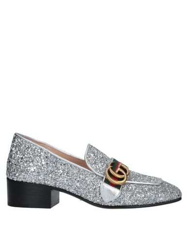 Gucci Loafers In Silver | ModeSens