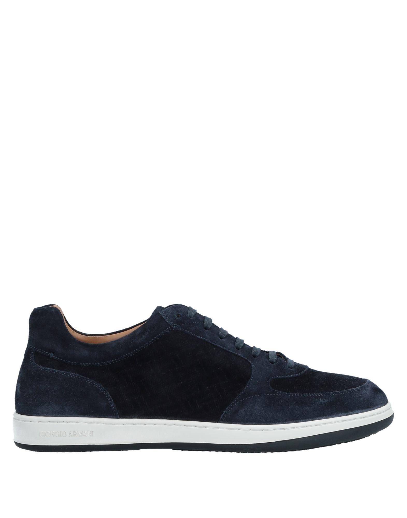 Sneakers Giorgio Armani Homme - Sneakers Giorgio Armani  Bleu foncé Dernières chaussures discount pour hommes et femmes