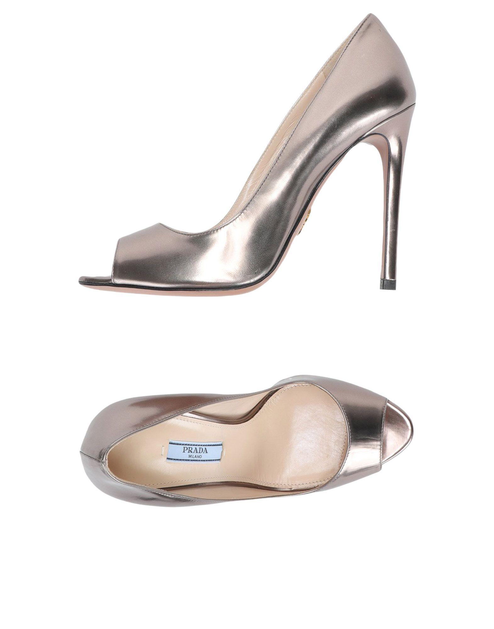 Escarpins Prada Femme - Escarpins Prada Bronze Remise de marque