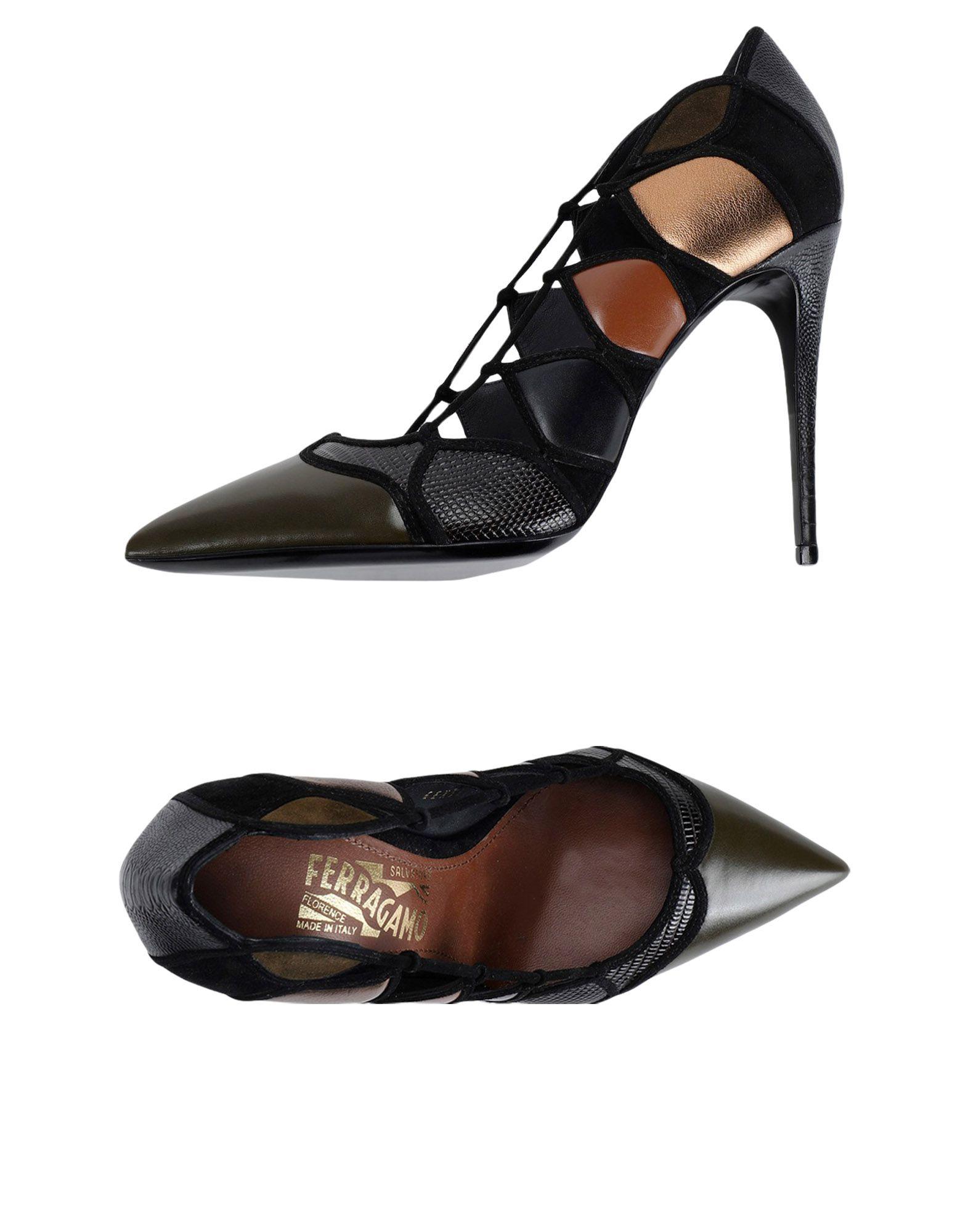 Moda barata y hermosa Zapato De - Salón Salvatore Ferragamo Mujer - De Salones Salvatore Ferragamo  Verde militar 35c087