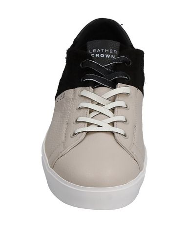 Crown Sneakers Sneakers Leather Gris Leather Clair Gris Leather Crown Clair Crown FIBxIdn