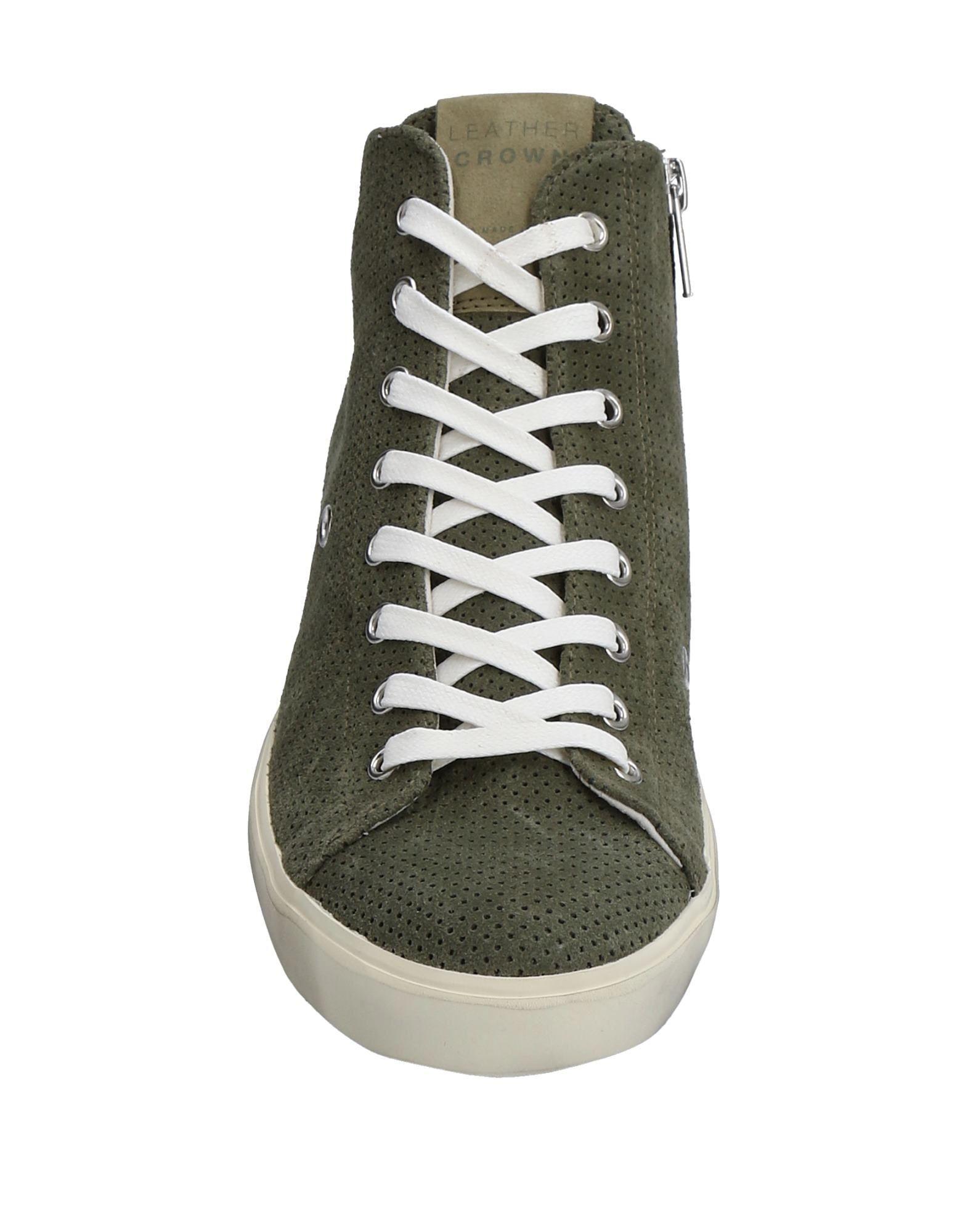 Gut um billige Damen Schuhe zu tragenLeather Crown Sneakers Damen billige  11532095WR f497a8