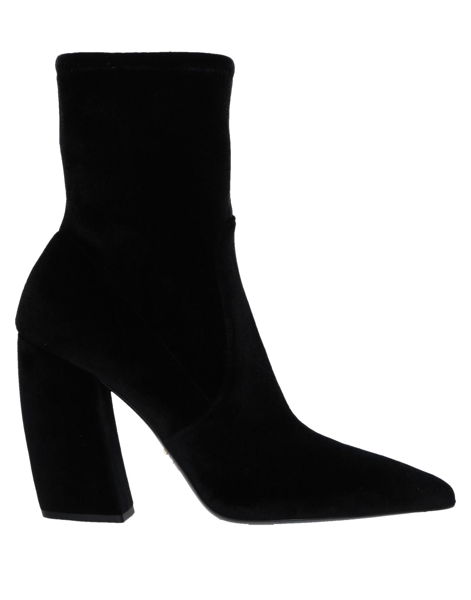 Bottine Prada Femme - Bottines Prada Noir Chaussures casual sauvages
