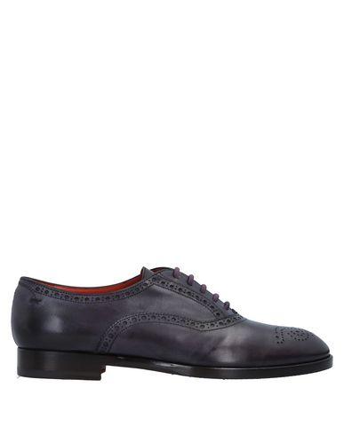 Zapato De Cordones Santoni Mujer - Zapatos De Cordones Santoni - 11542259HJ Berenjena