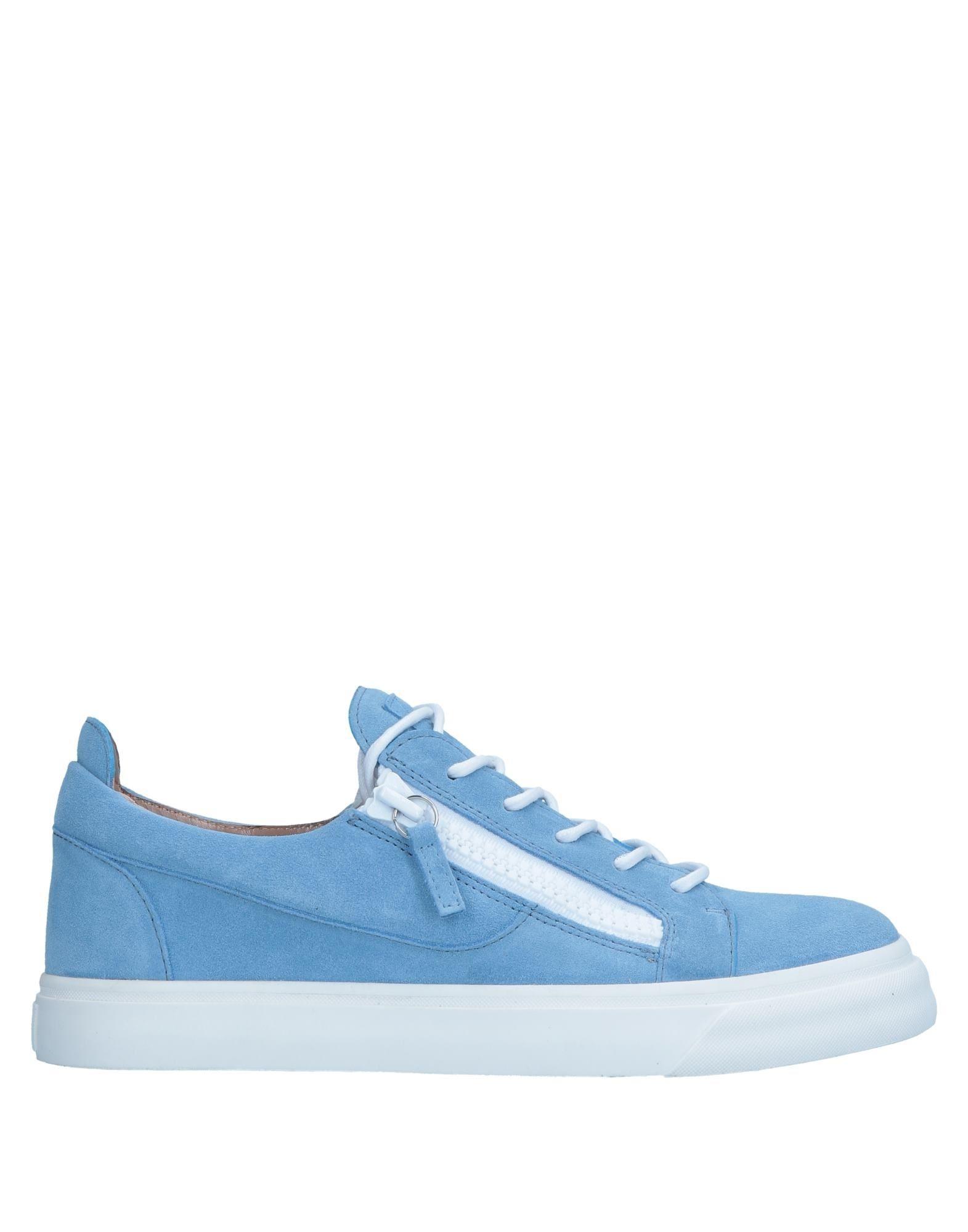 Sneakers Giuseppe Zanotti Homme - Sneakers Giuseppe Zanotti  Bleu ciel Remise de marque