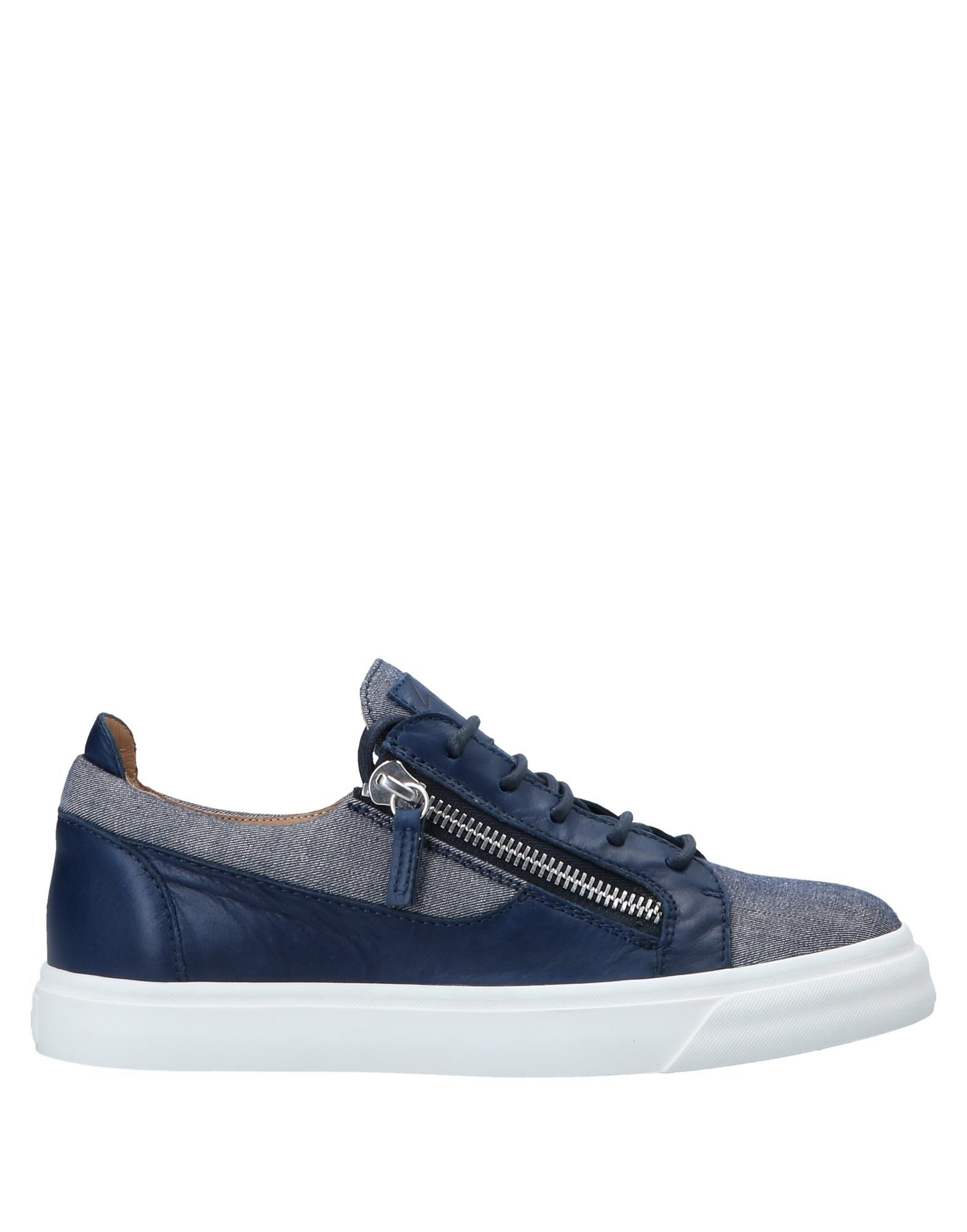 Sneakers Giuseppe Zanotti Homme - Sneakers Giuseppe Zanotti  Bleu foncé Mode pas cher et belle