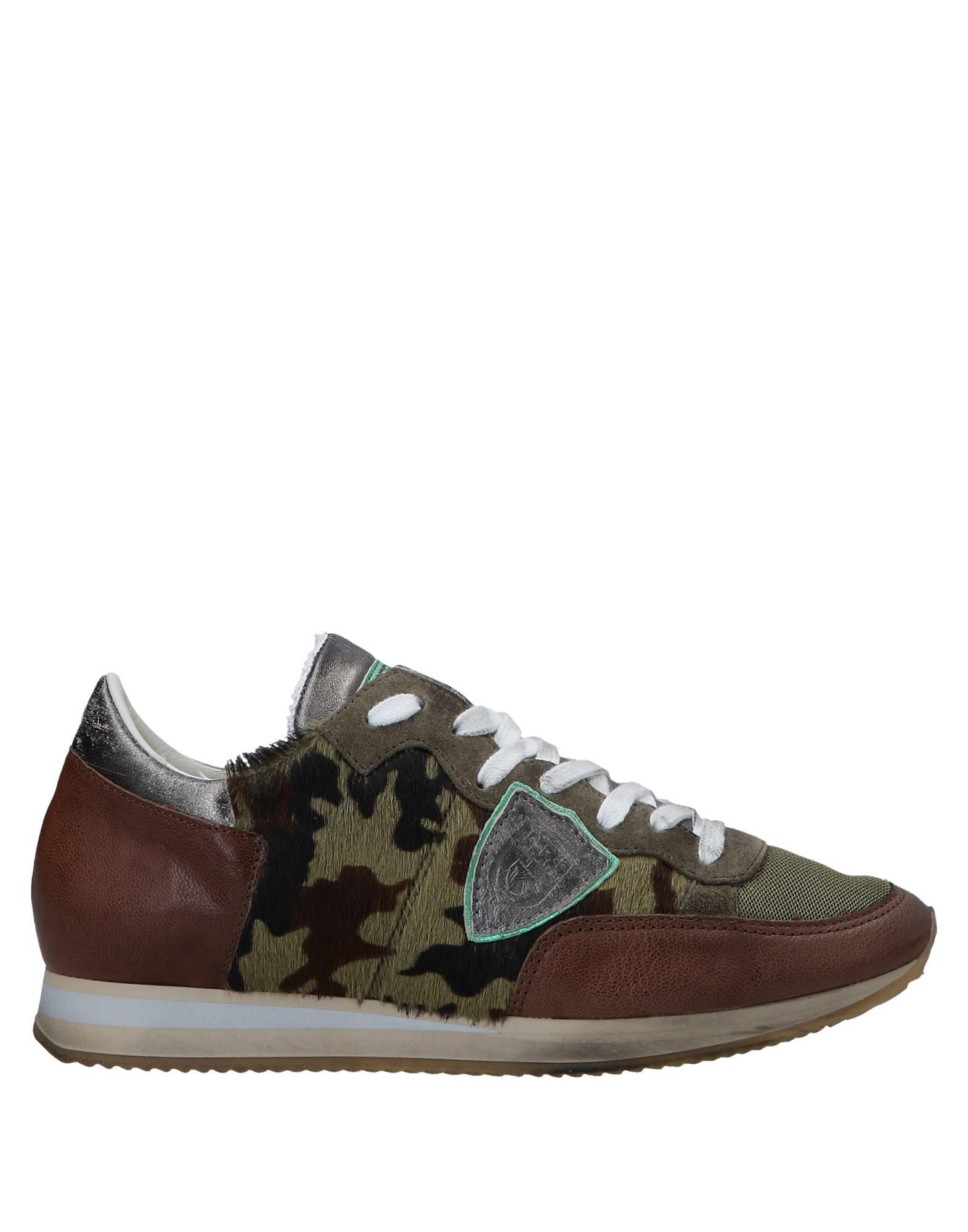 Zapatos de mujer baratos zapatos de mujer Philippe Zapatillas Philippe mujer Model Mujer - Zapatillas Philippe Model  Verde militar 7336a2