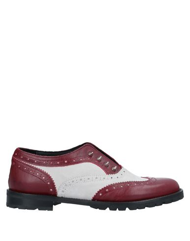 L'F SHOES Loafers in Brick Red